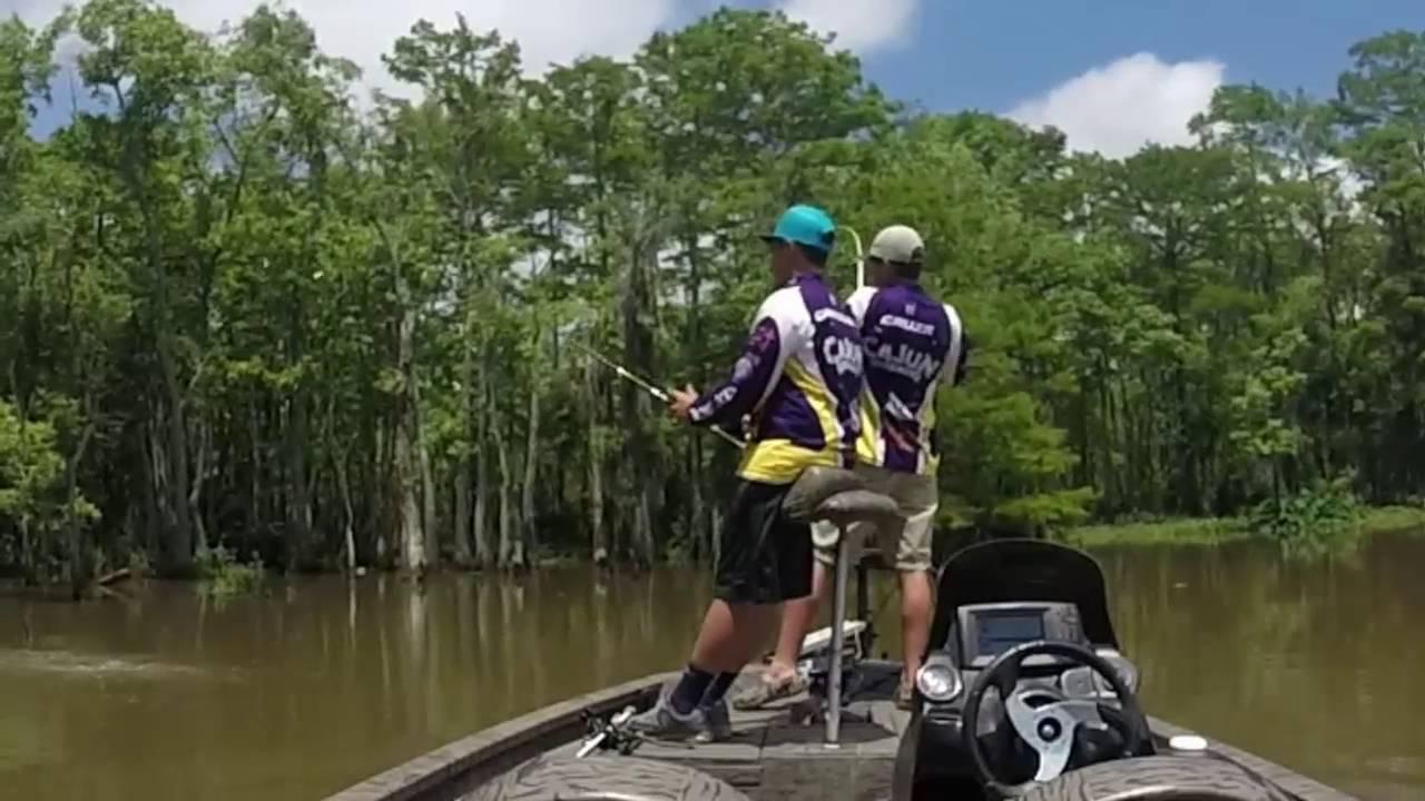 Calcasieu river bass fishing summer 2016 youtube for Calcasieu lake fishing report
