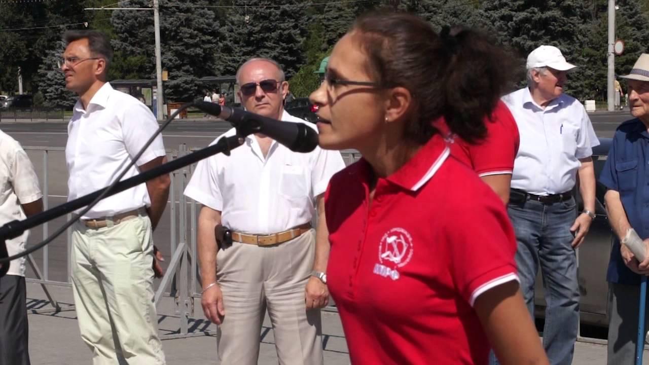 Выступление на митинге 27 июля Инны Куцаевой