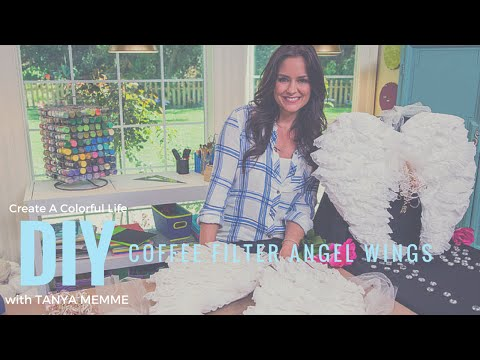 Make angel wings from coffee filters!