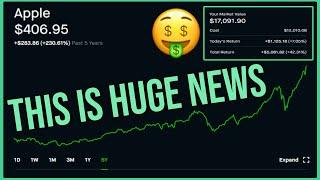 HUGE NEWS for Apple Stock - Robinhood Investing | Apple Stock News & Analysis (AAPL)