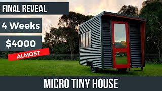 Micro Tiny House: Final Reveal Of The Tiny House I Tried To Build For Under $4000 In 4 Weeks