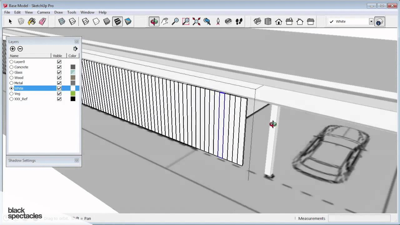 Creating Corrugated Exterior Walls Sketchup 2014