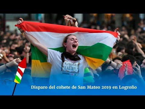Disparo del cohete de San Mateo 2019 en Logroño