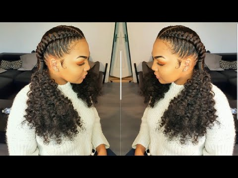 Invisible Crochet Braids Ponytail