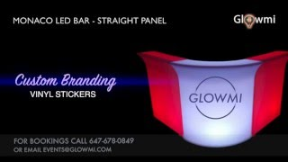 Glowmi - Monaco LED Bar Counter - Straight panel - Toronto LED Furniture Rental