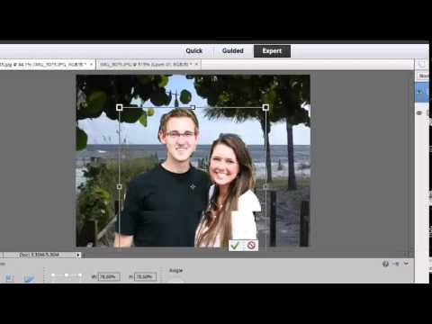 How to merge two layers in photoshop elements