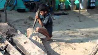 India's cricket world cup starts with a little mountain village boy carving a bat