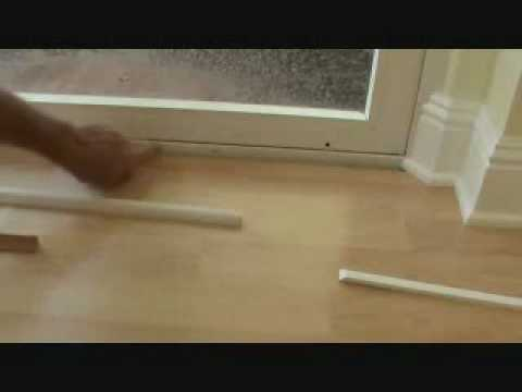 Installing a threshold trim piece to a hardwood floor & Installing a threshold trim piece to a hardwood floor - YouTube