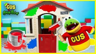 Learning Colors Pretend Play Painting a Playhouse with Gus!