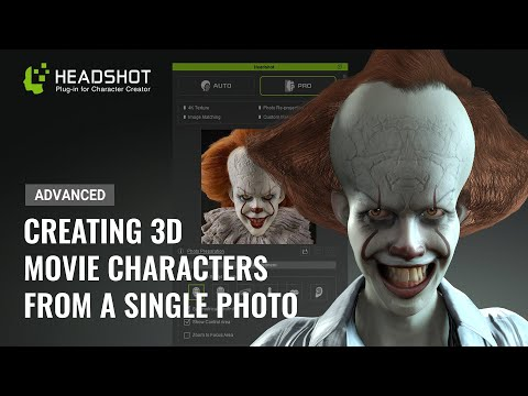 Generating A 3D Animated Pennywise From A Single Photo - Advanced Headshot Guide By Mythcons