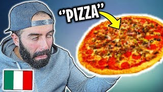 ITALIAN guy tries indian pizza
