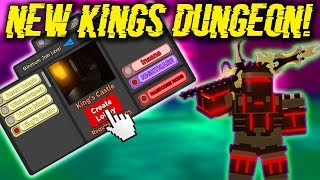 *NEW* KINGS CASTLE DUNGEON, NEW ARMOR, NEW MINI-BOSSES, AND NEW WEAPONS! (ROBLOX DUNGEON QUEST)