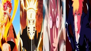 Top 60 Strongest Fairy tail,Naruto,One piece,Bleach characters