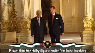 President Abbas Meets His Royal Highness Henrithe Grand Dukeof Luxembourg
