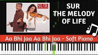Aa Bhi Ja Aa Bhi Ja Aye Subah Aa Bhi Ja - Soft Piano Instrumental   Sur