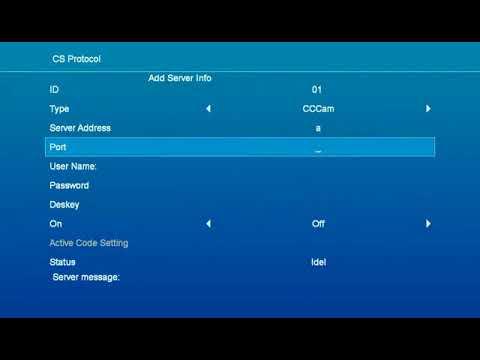 How to configure the CCcam clines to GT Media Free Sat V8 NOVA TV Box