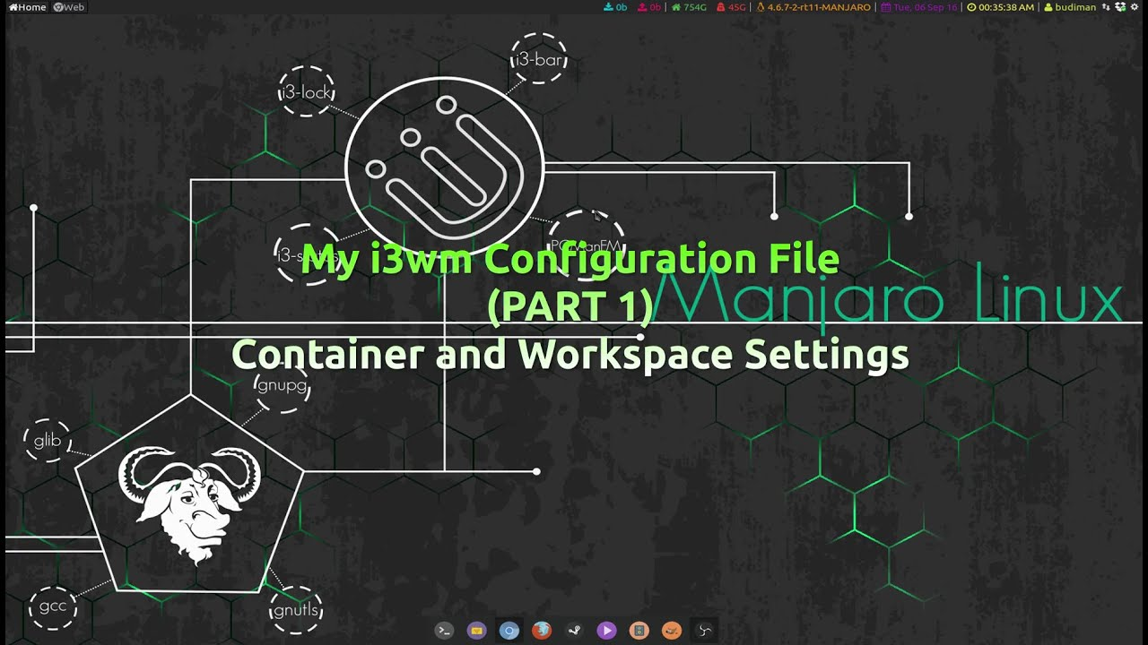 (Part 1) i3wm Configuration on Manjaro - Container and Workspace Settings