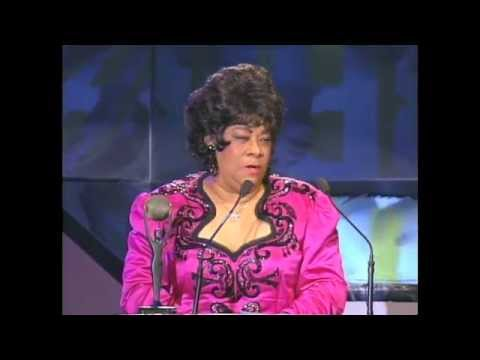 Ruth Brown Accepts Hall of Fame Award