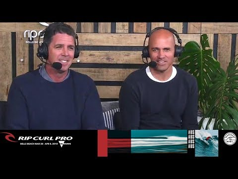Kelly Slater Stops by to Talk About Injuries & New Scoring - Rip Curl Pro Bells Beach 2018