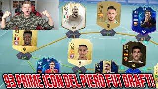 Fifa 19: Sehr geiles 93 DEL PIERO Prime Icon Moments Fut Draft! - Ultimate Team
