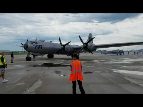 B-29 Superfortress Engines Starting
