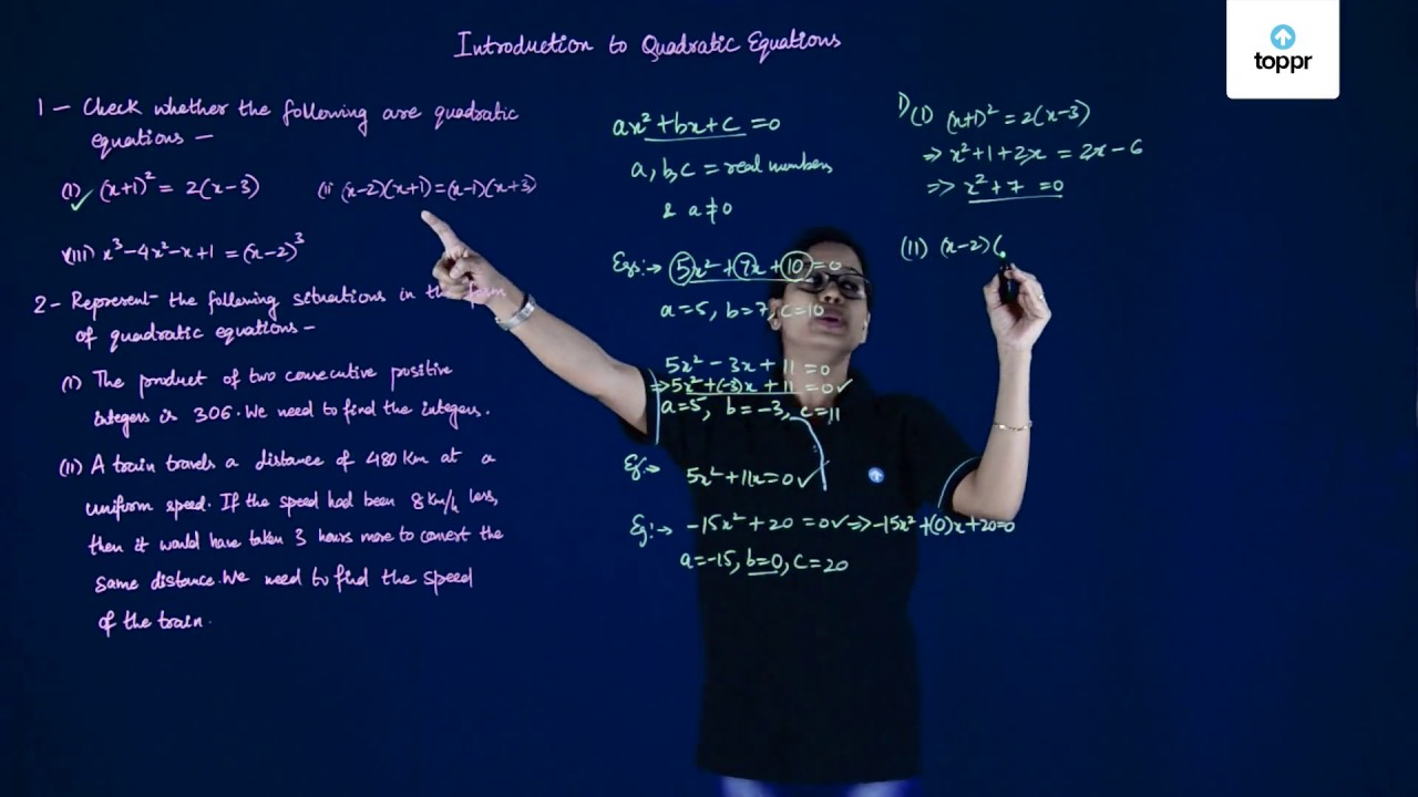 Solving Quadratic Equations: Quadratic Equation Formula with Examples