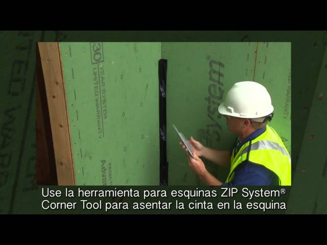 Tape the Inside Corners With ZIP System™ tape-Spanish