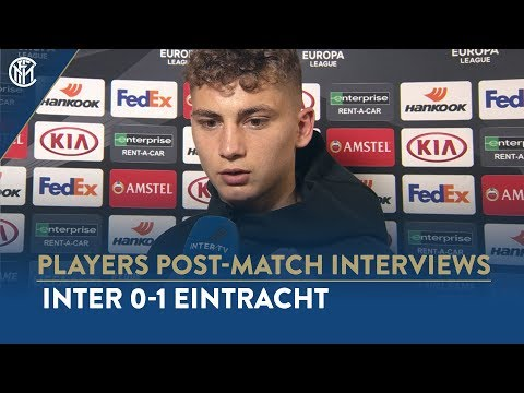 INTER 0-1 EINTRACHT | SEBASTIANO ESPOSITO INTERVIEW: 'Happy for my debut but not for the result'