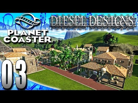 Planet Coaster Beta :EP3: Silver Star & Caribbean Plaza! (PC Let's Play Career ModeHD)