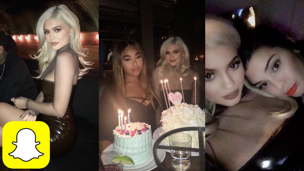 Kylie Jenner At JORDYN WOODS BIRTHDAY PARTY