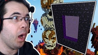 Skywars'ta Nether Portali Yapmayi Denedİm | Minecraft Sky Wars