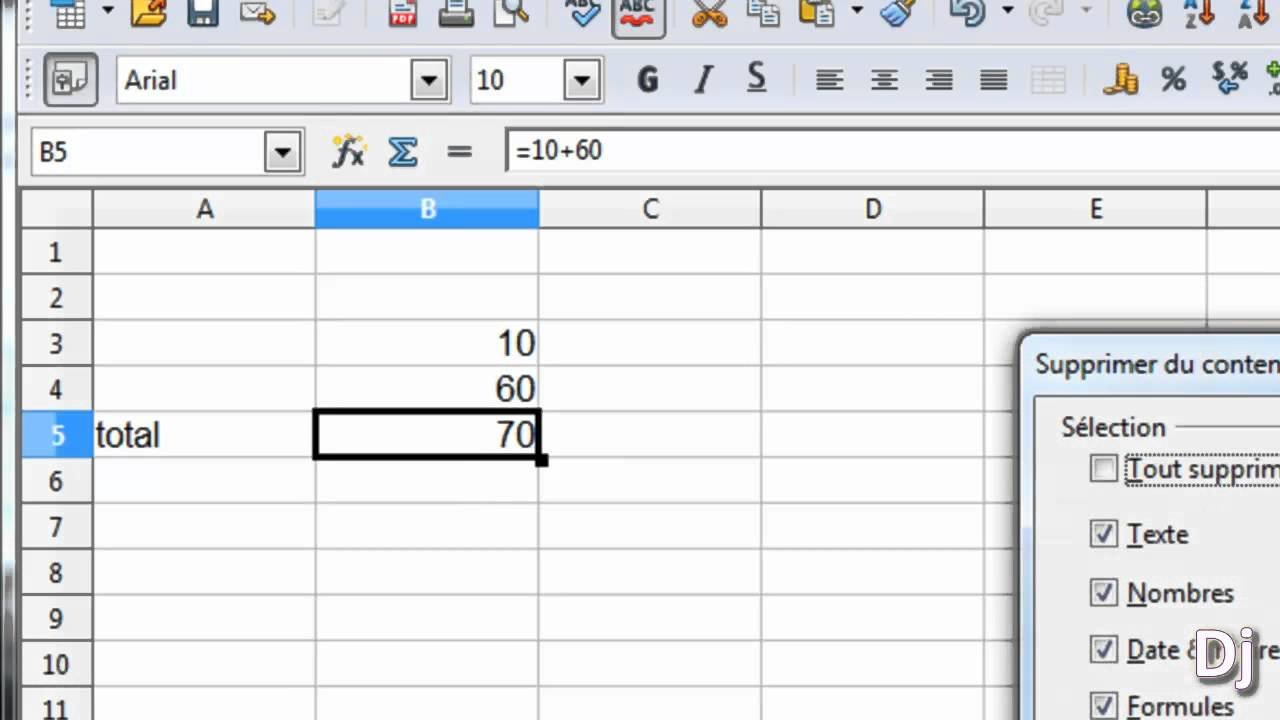 Faire un calcul simple sur openoffice tableur part2 - Comment faire un organigramme sur open office ...