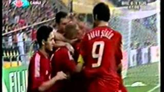 Hasan Şaş'ın Brezilya'ya attığı gol (Trt Canlı Yayınından)