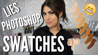 The TRUTH About Makeup Swatches! Beauty Gurus & Brands Wont Tell!