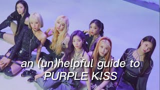 an (un)helpful guide to purple kiss