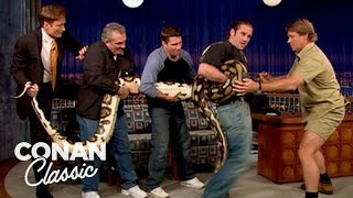 Conan & Steve Irwin Wrestle With A Snake  'Late Night With Conan O'Brien'