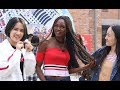 chinese girls in china react to african braids/ Q&A