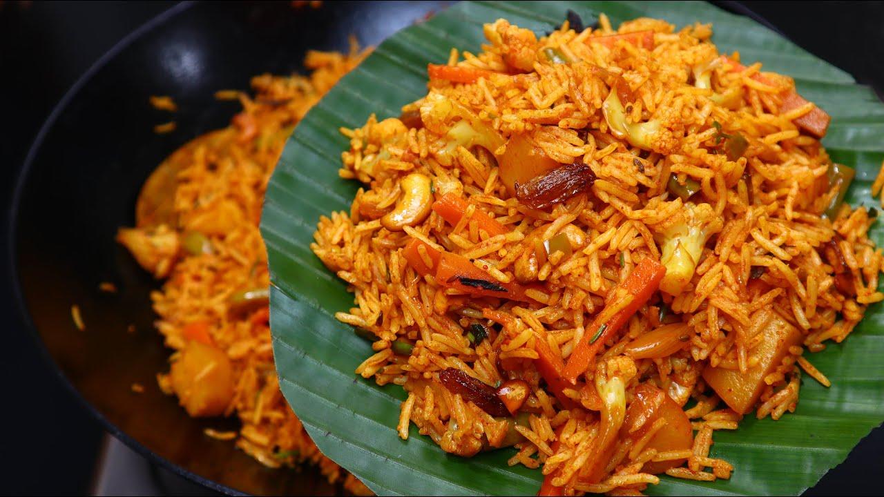 വെജ് ബിരിയാണി ഇതുപോലെ ഒരു തവണ തയ്യാറാക്കി നോക്കൂ!! Instant Kadai Veg Biriyani Recipe| Lunch Biriyani