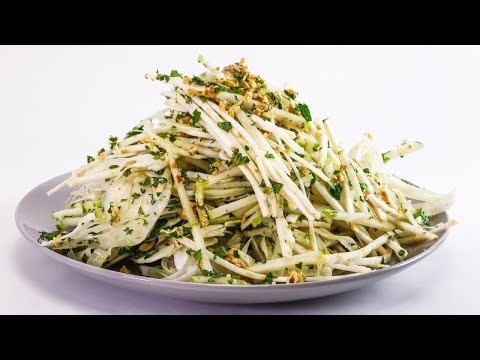 Apple, Celery Root and Fennel Salad with Hazelnuts