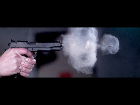 Pistol Shot Recorded at 73,000 Frames Per Second