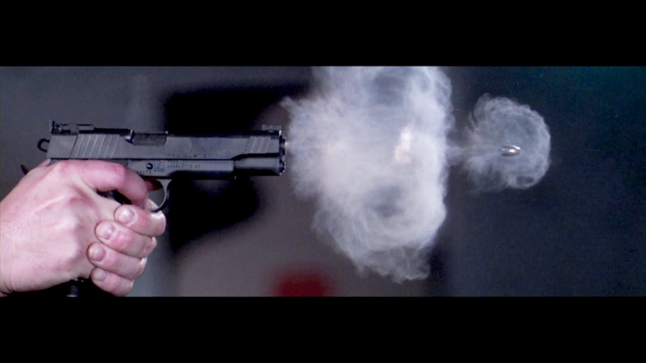 Pistol Shot Recorded at 73,000 Frames Per Second - YouTube