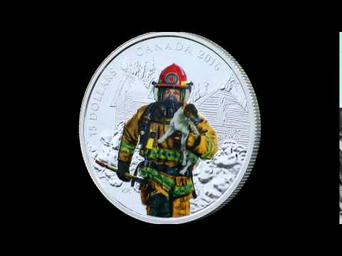 Pure Silver Coloured Coin – National Heroes: Firefighter