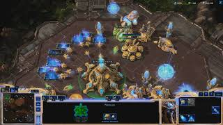 Starcraft 2 - Custom Game 1V1 -  Protoss VS Terran