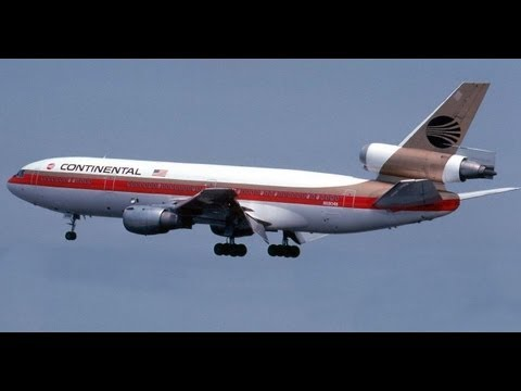 Continental Airlines TV Television Commercials From The 1970s And 1980s - Golden Tail