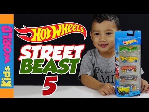 HOT WHEELS Street Beast 5 Unboxing| Kids WORLD | Charlie