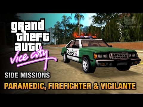 GTA Vice City - Paramedic, Firefighter and Vigilante