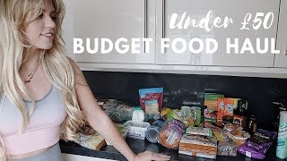 BUDGET FOOD HAUL UNDER £50 ALDI SHOP | MONEY WEEK