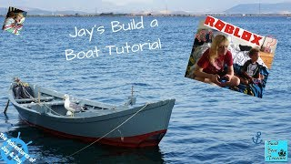 Jay tries to teach Aunt Promise Roblox : Build a boat : Will they make it or major fail?