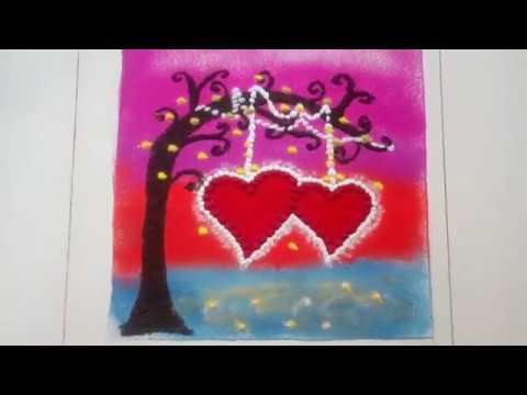 Valentine's Day Special Rangoli design ...