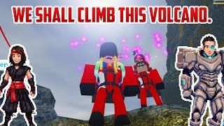 LET'S CLIMB THIS VOLCANO. Roblox Volcano Climbing